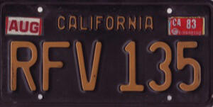 Buick License Plate YOM