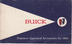 Buick Approved Accessories 1965